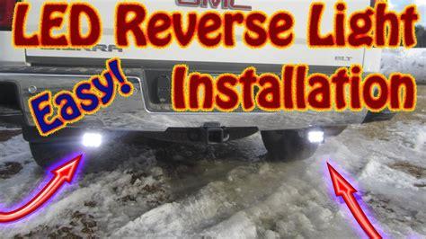 diy   install  auxiliary backup light set   gmc