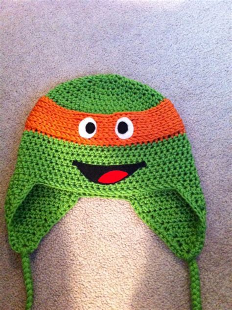 felt ninja pattern crochet ninja turtle hats free patterns teenage mutant