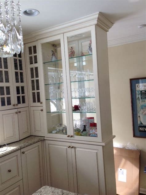 double sided glass cabinet divider design dining