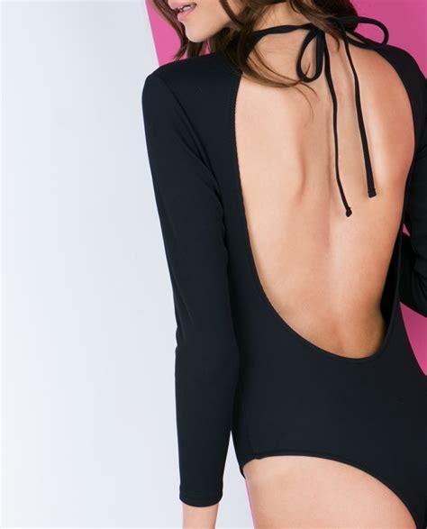 Sleeve Swimsuit backless sleeve swimsuit fashionnoiz