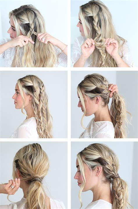 different braid step by step cara jourdan braided ponytail tutorial