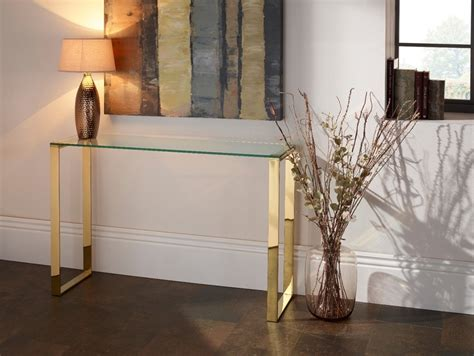 gold and glass table gold console table glass console table uses of gold