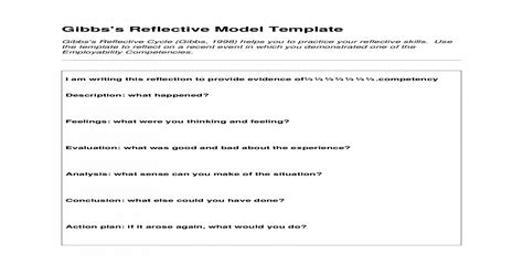 Gibbs Reflective Model Template