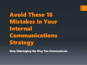 avoid these 10 mistakes in your internal communications