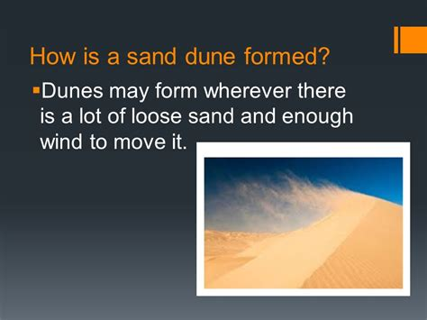 how is sand dunes canyons and deltas ppt