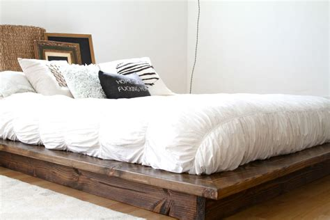 floating bed frame modern floating platform bed frame