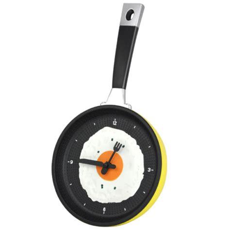 Egg Pan Clock yellow frying pan clock with fried egg kitchen wall clock