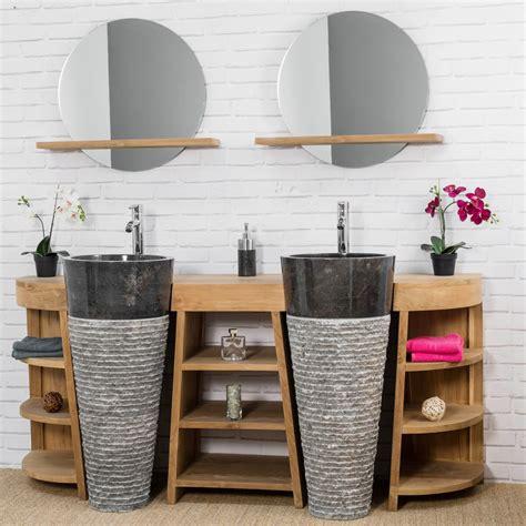 agréable Meuble Colonne Salle De Bain Leroy Merlin #8: ori-meuble-de-salle-de-bain-en-teck-florence-double-180cm-vasques-noir-2945.jpg