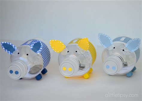 How To Make A Piggy Bank Out Of Paper Mache - bottle piggy banks 12monthsofmartha giveaway a tipsy