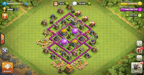 layout coc th 6 yang kuat design base clash of clans terbaik war base terkuat