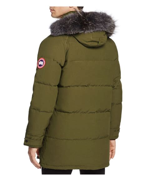 canada goose jacket emory parka lyst canada goose emory parka in green for