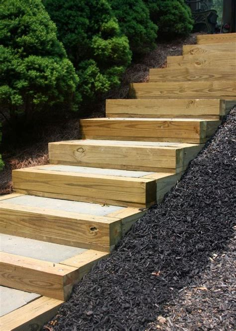 step by step diy garden steps and stairs the garden glove diy outdoor staircase hometalk