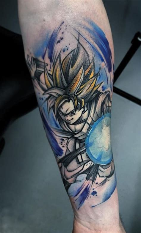 dragon ball tattoo goku inkstylemag