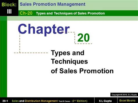 Sales Promotion Letter Ppt Chapter 20 Types And Techniques Of Sales Promotion Sales And Dist Authorstream