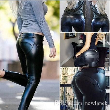 Top Slim Legging Celana 2018 plus size faux leather legging fashion high waist stretch material pencil