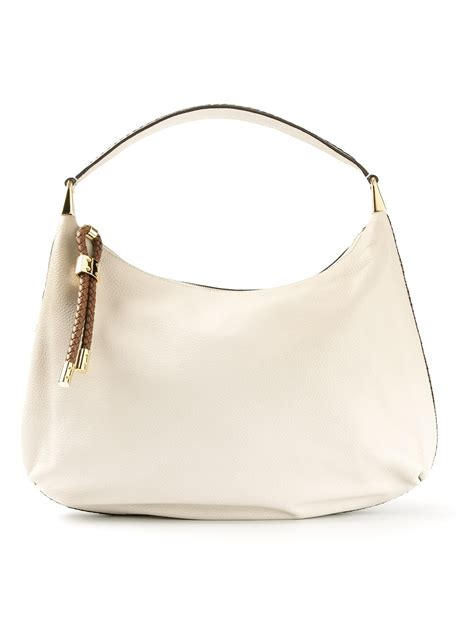 Michael Kors Mesh Hobo Purse by Lyst Michael Kors Skorpios Hobo Shoulder Bag In White