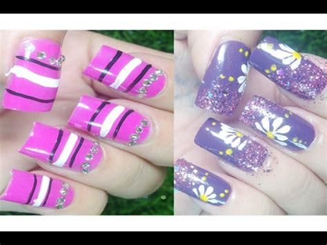 easy nail art compilation nail designs simple cute nails nail art paint ideas