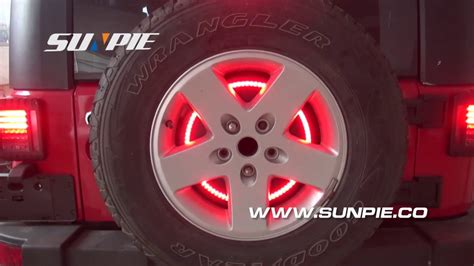 jeep wrangler 3rd brake light jeep wrangler jk tj lj yj cj spare tire led third brake