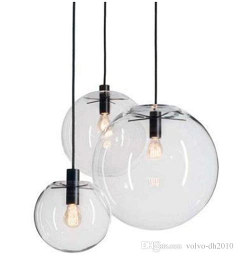 Modern Nordic Lustre Globe Pendant Lights Glass Ball Lamp Shade Hanging Lamp E27 Suspension