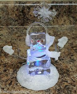 cracker barrel xmas decorations cracker barrel retired collectible frosted glass snowman on decor ebay