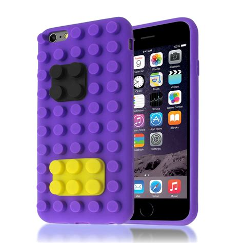 Iphone 55sse66s66s 77 3d Cactus 3d building lego brick blocks silicone stand cover