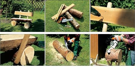how to make a bench from a log diy decorative log bench home design garden architecture blog magazine