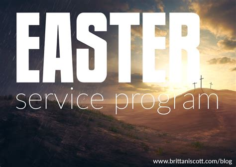 songs for easter sunday service easter service program brittani