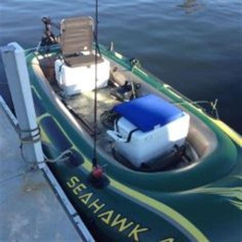 blow up bass boat diy intex seahawk 4 inflatable custom bass boat mod