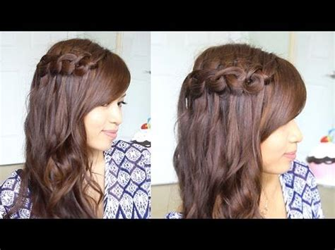 running late ponytail hairstyles 183 just bebexo a boho knotted loop waterfall braid hairstyle hair