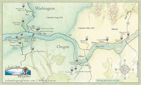 river gorge map winemaking radio learn wine columbia gorge wine grape growers association