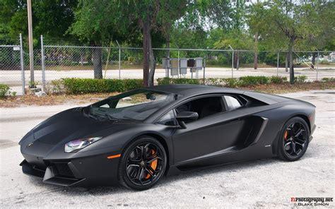 Matte Black Lamborghini Aventador Interior