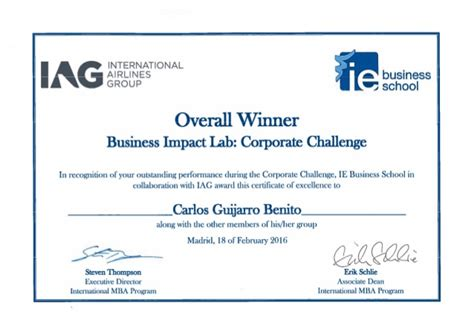 Ie Brown Mba Diploma by Iag Corporate Challenge Diploma 2