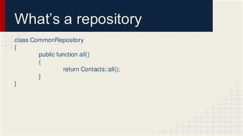 repository pattern the right way repository design pattern in laravel samir poudel