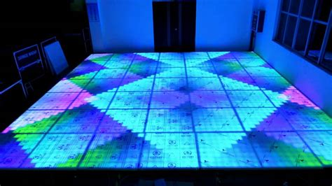 led floor dmx colorful digital lighted led floor for disco