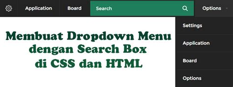 membuat drop down menu responsive trustme membuat drop down menu dengan search box di css