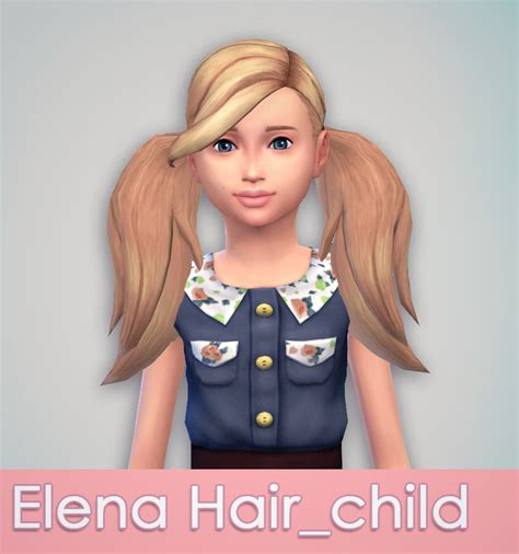the sims 4 hair for female kids the sims resource as requested elena hair for kids download just