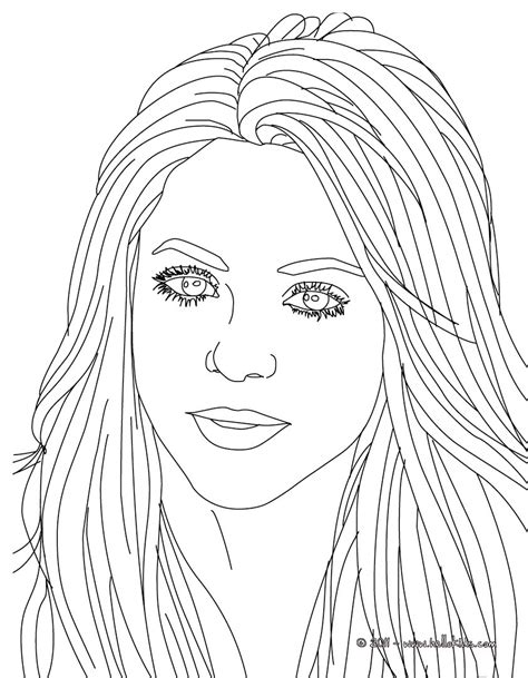 coloring pages of people s faces shakira songwriter coloring pages hellokids com