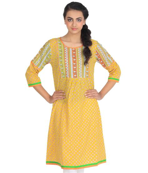Yellow Kurti Pattern | rabbitfoot designs yellow kurti price in india buy