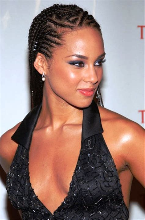alica keys differnt brai hair styles pictures of alicia keys cornrow braided hairstyle