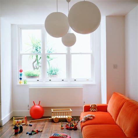playroom sofa playroom with orange sofa playroom ideas housetohome co uk
