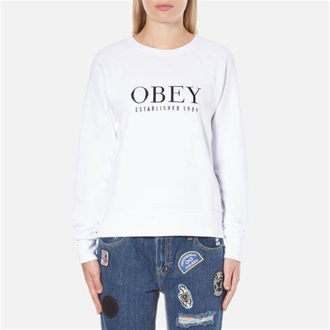 obey clothing s obey vanity sweatshirt white