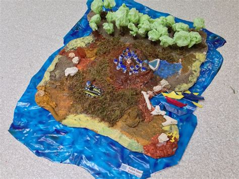 How To Make A Paper Mache Island - create your own 3d island gr 7 geography materials