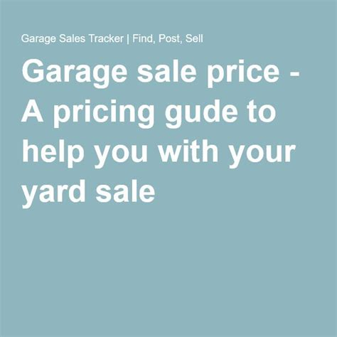 garage sale price a pricing gude to help you with your