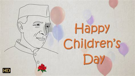 s day about easy chacha nehru drawing for children s day