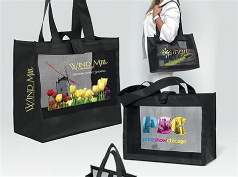 Mesh Panel Shopper Bag logo expressions seeking innovative ways to express your
