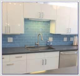 blue glass tile for kitchen backsplash tiles home