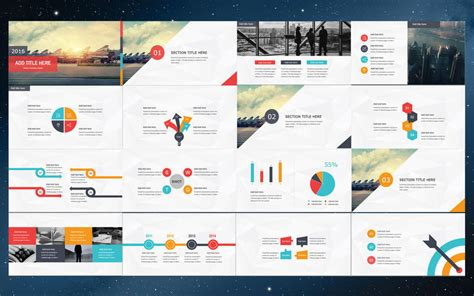 Powerpoint Free Template Colorful Powerpoint Presentation Free Ppt Template 2017