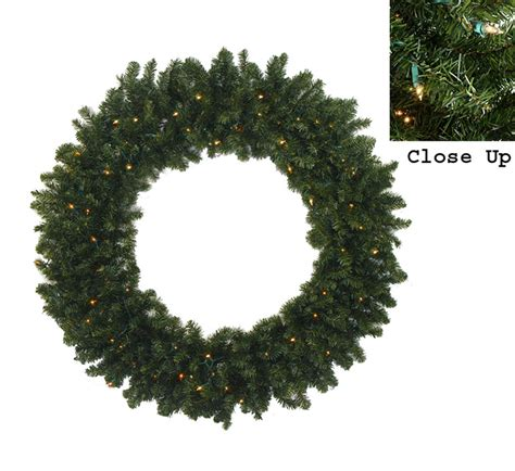 60 inch lighted outdoor christmas wreath 60 quot pre lit commercial canadian pine artificial wreath clear lights ebay