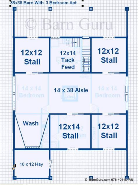 stall floor plans barn plans with living quarters 4 stalls 3 bedrooms design fp