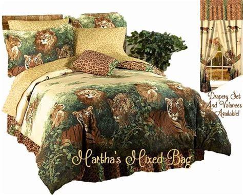 Safari Comforters by Safari Jungle Leopard Tiger Cat Beige Brown Animal Print Comforter Set Ebay